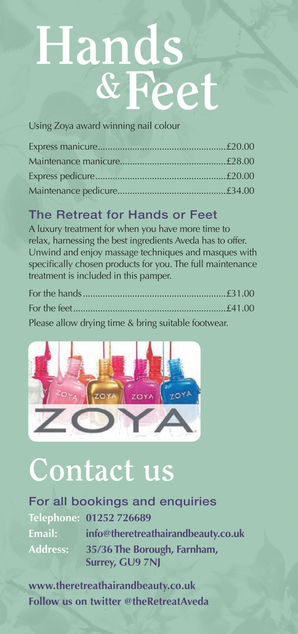 Take A Look At Our Hands Feet Prices View Pricelist Here
