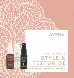 aveda travel size essentials at the retreat hair salon and spa farnham, surrey