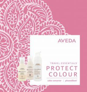 aveda travel size essentials at the retreat hair salon and spa farnham, surrey