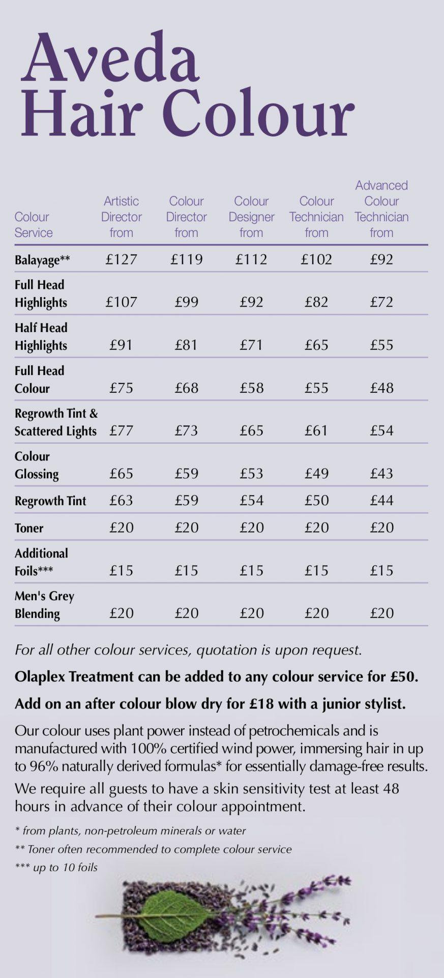 Aveda Hair Colour Hair Salon Farnham Surrey