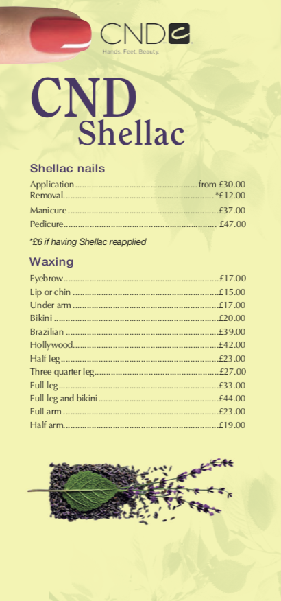 Beauty Price List Three